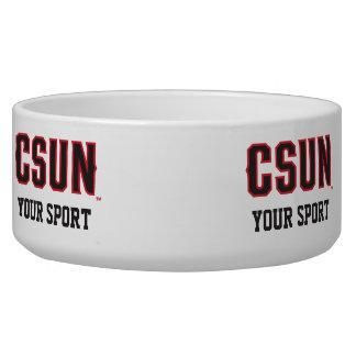 Rojo de CSUN - modifique su deporte para Comedero Para Mascota