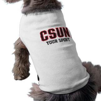 Rojo de CSUN - modifique su deporte para Playera Sin Mangas Para Perro