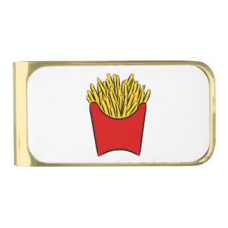 Rojo de dibujo del arte de los palillos de la clip para billetes dorado