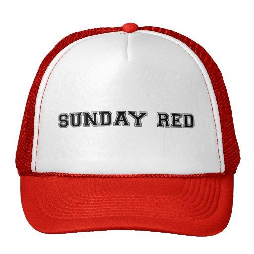 ¡Rojo de domingo! Gorros