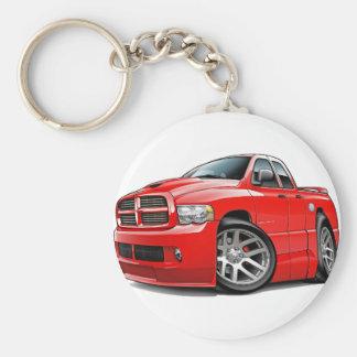 Rojo de Dualcab del espolón de Dodge SRT10 Llavero Redondo Tipo Pin