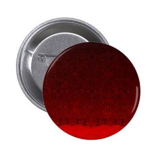 Rojo de encaje pin redondo de 2 pulgadas