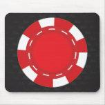 Rojo de encargo del cojín de ratón del póker alfombrillas de raton
