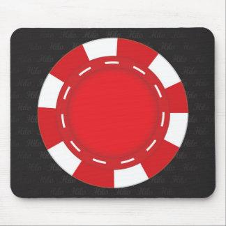 Rojo de encargo del cojín de ratón del póker mousepads
