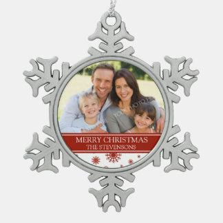 Rojo de encargo del ornamento del navidad de la fa