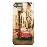 Rojo de Fiat 500 en caso de Italia, Toscana Iphone Funda De iPhone 6 Barely There