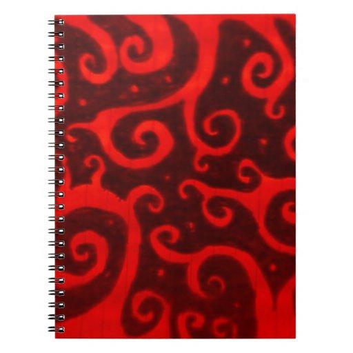 Rojo de Firey Libros De Apuntes Con Espiral