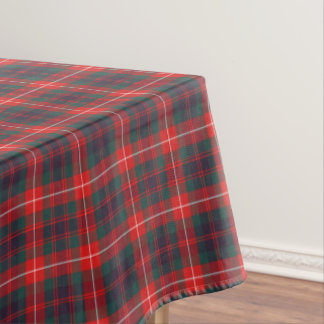 Rojo de Fraser del clan y tartán escocés moderno Mantel De Tela