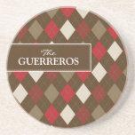 Rojo de Guerreros/práctico de costa del chocolate Posavasos Para Bebidas