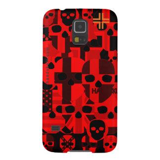 Rojo de HANDSKULL Cerebro - galaxia S5 de Samsung, Fundas Para Galaxy S5