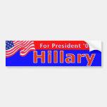 Rojo de Hillary 08 Pegatina De Parachoque