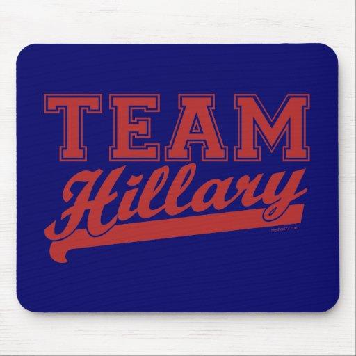 Rojo de Hillary del equipo Tapetes De Ratones