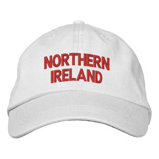 Rojo de Irlanda del Norte en el casquillo Gorra De Beisbol Bordada