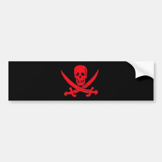 Rojo de Jack Rackham- Etiqueta De Parachoque