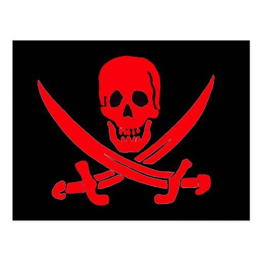 Rojo de Jack Rackham- Postales