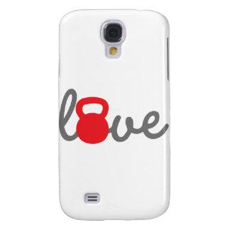 Rojo de Kettlebell del amor Funda Para Galaxy S4