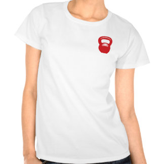 Rojo de Kettlebell T Shirts