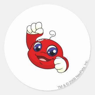 Rojo de Kiko Pegatina Redonda