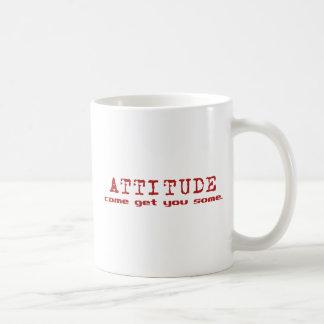 Rojo de la actitud taza