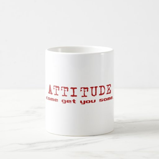 Rojo de la actitud taza de café