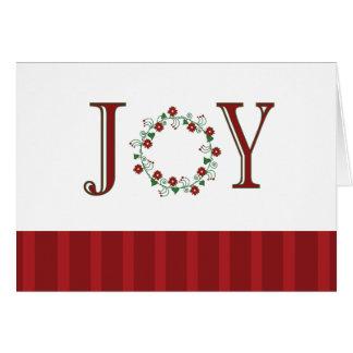 Rojo de la alegría felicitacion