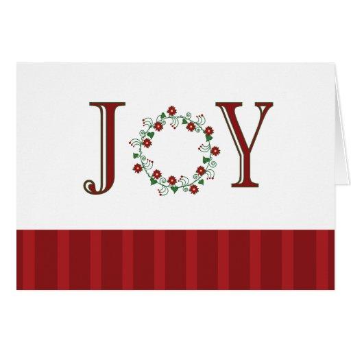 Rojo de la alegría tarjeta de felicitación