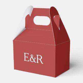 Rojo de la aurora con el detalle blanco del boda cajas para regalos