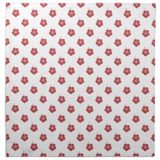 Rojo de la aurora del estampado de plores 3 servilletas de papel