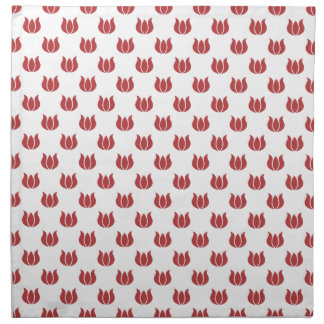 Rojo de la aurora del estampado de plores 5 servilleta de papel