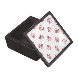 Rojo de la aurora del estampado de plores 6 cajas de joyas de calidad