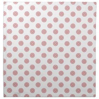 Rojo de la aurora del estampado de plores 6 servilleta imprimida