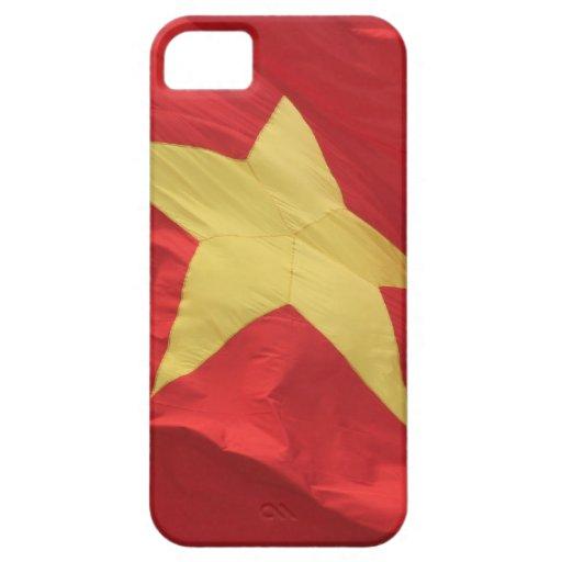 rojo de la bandera de Vietnam iPhone 5 Case-Mate Cárcasas