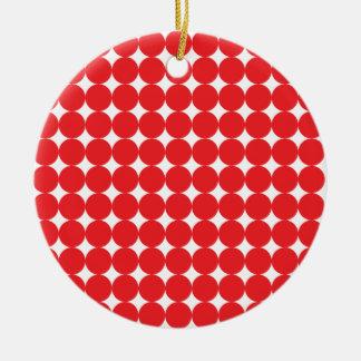 Rojo de la bola adorno navideño redondo de cerámica