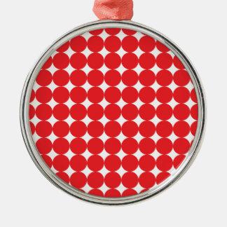 Rojo de la bola adorno navideño redondo de metal