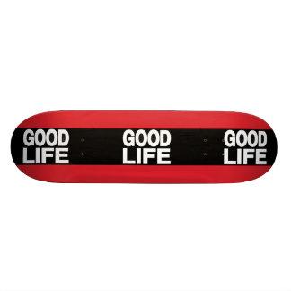 Rojo de la buena vida de largo tablas de skate