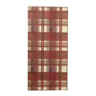 Rojo de la caída de la tela escocesa de Madras Servilleta De Papel