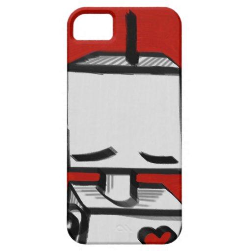 Rojo de la caja del robot de Iphone 5 Funda Para iPhone SE/5/5s
