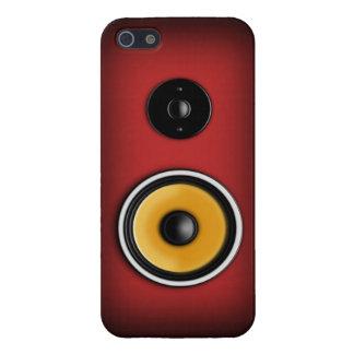 Rojo de la caja del teléfono del altavoz iPhone 5 carcasas