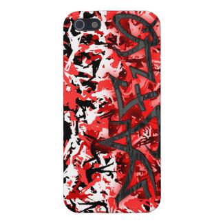 Rojo de la calle de Dafuq en caso rojo del iPhone  iPhone 5 Fundas