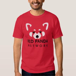 Rojo de la camiseta de la red de la panda roja playeras