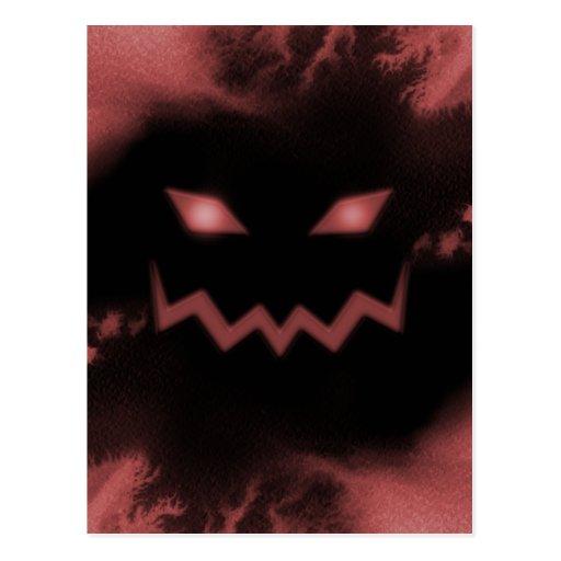 Rojo de la cara de la Jack-o-Linterna de la Postal