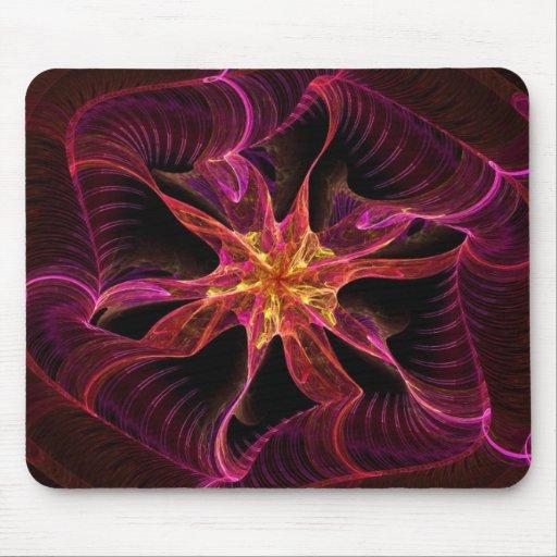 Rojo de la cinta de la estrella - modelo abstracto alfombrillas de ratones