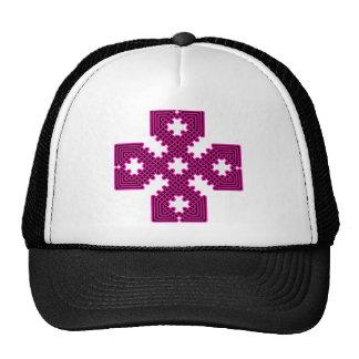 Rojo de la cruz céltica 8 gorra