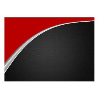 Rojo de la curva del cromo tarjetas de visita grandes