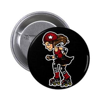 Rojo de la emisión de Derby del rodillo Pin Redondo De 2 Pulgadas