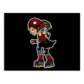 Rojo de la emisión de Derby del rodillo Postales