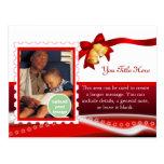 Rojo de la entrega especial tarjeta postal