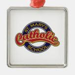 Rojo de la escuela católica de St Mary en azul Ornamentos De Reyes Magos
