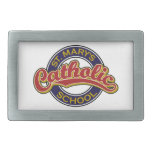 Rojo de la escuela católica de St Mary en azul Hebilla Cinturon