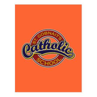 Rojo de la escuela católica del St. Gobnait en azu Postal
